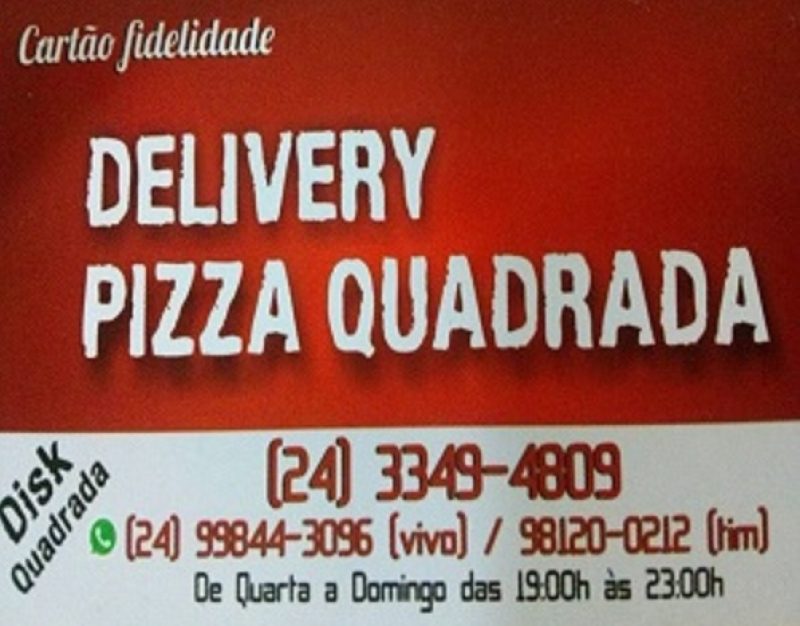 Delivery Pizza Quadrada
